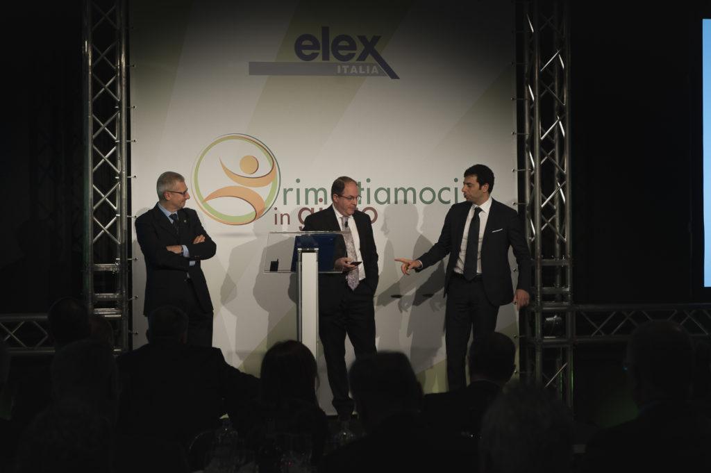 Convention ELEX Italia. Nella foto, da sinistra: il Gen. Scollo, Simon Sanfilippo e Giorgio Strano