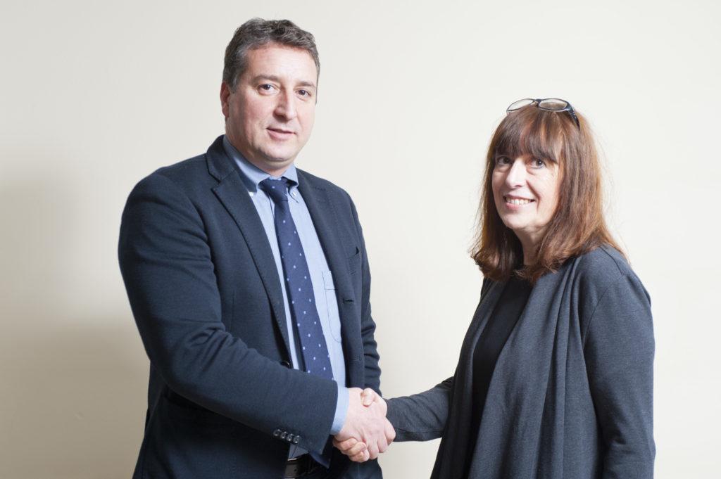 Il direttore di Anse2000 Maria Grazia Caldera con il Presidente dell'associazione Domenico Caldera