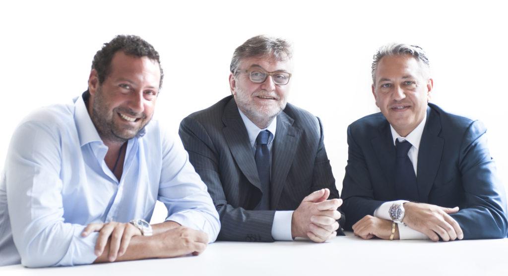 Foto di gruppo: da sinistra Alessandro Nicotera, Massimo Pirovano, Vincenzo Rotunno